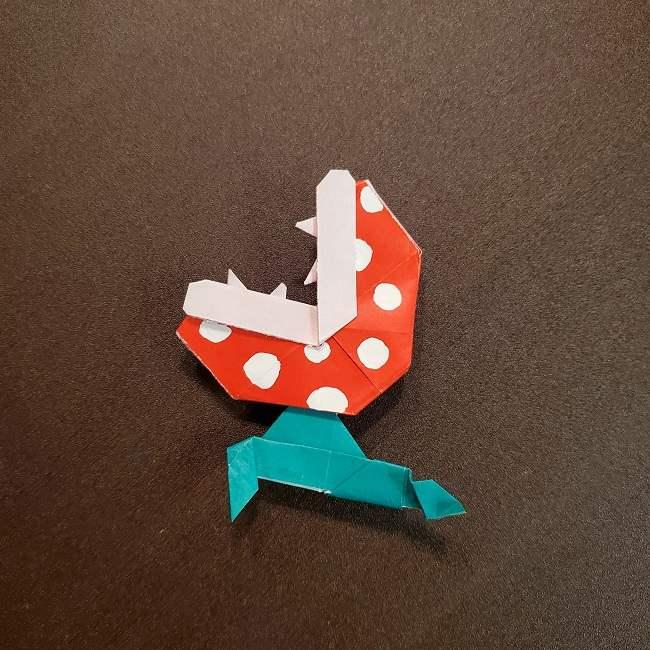 折り紙マリオの土管とパックンフラワー(63)