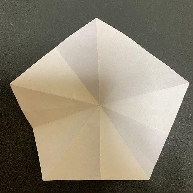 折り紙 五角形の桜*作り方折り方 (19)