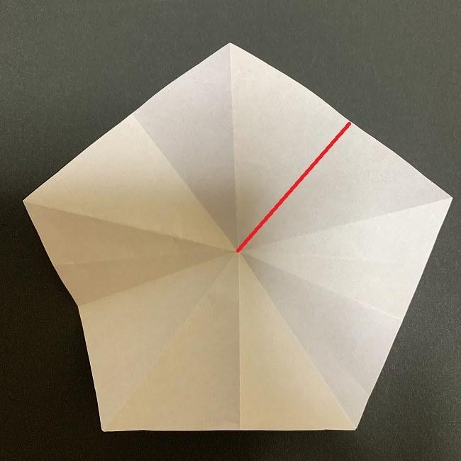 折り紙 五角形の桜*作り方折り方 (20)