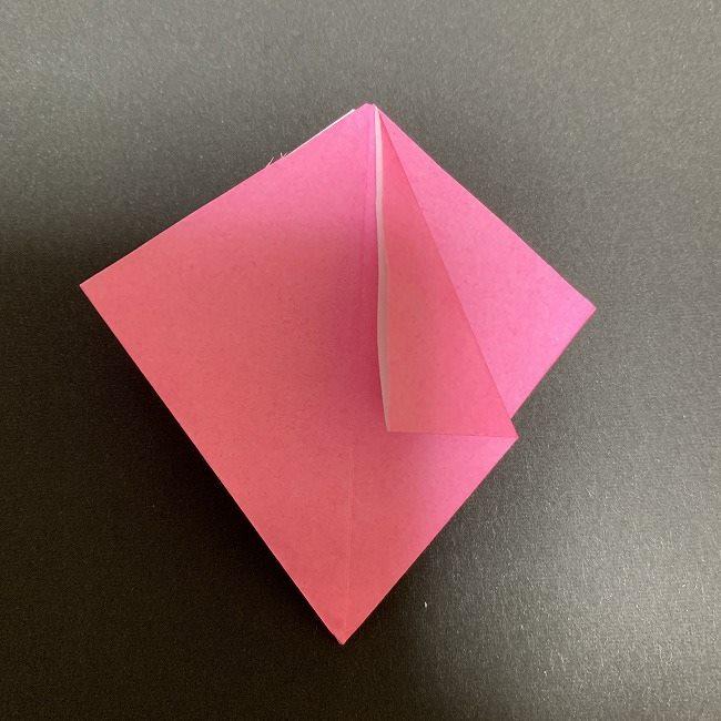 折り紙 五角形の桜*作り方折り方 (22)