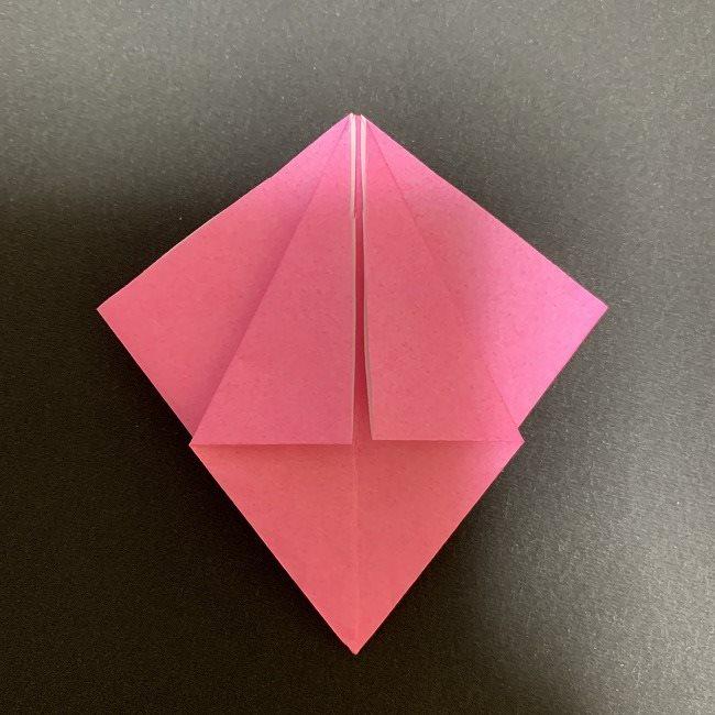 折り紙 五角形の桜*作り方折り方 (23)