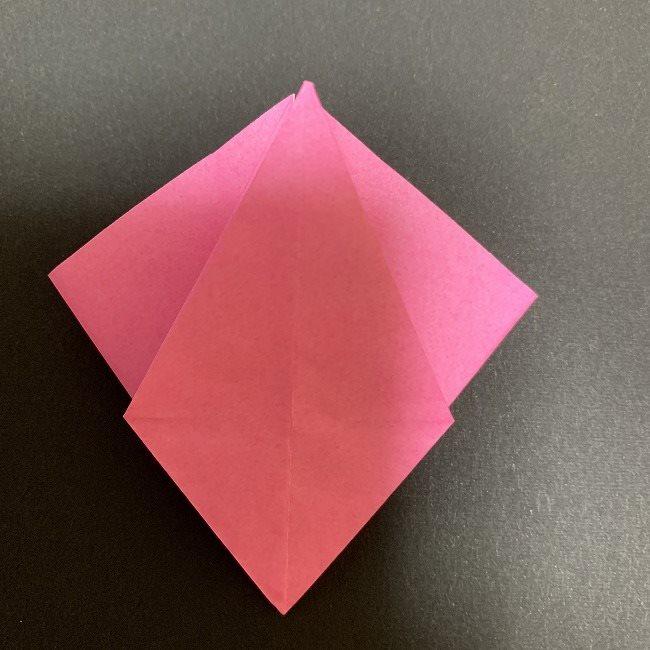 折り紙 五角形の桜*作り方折り方 (24)