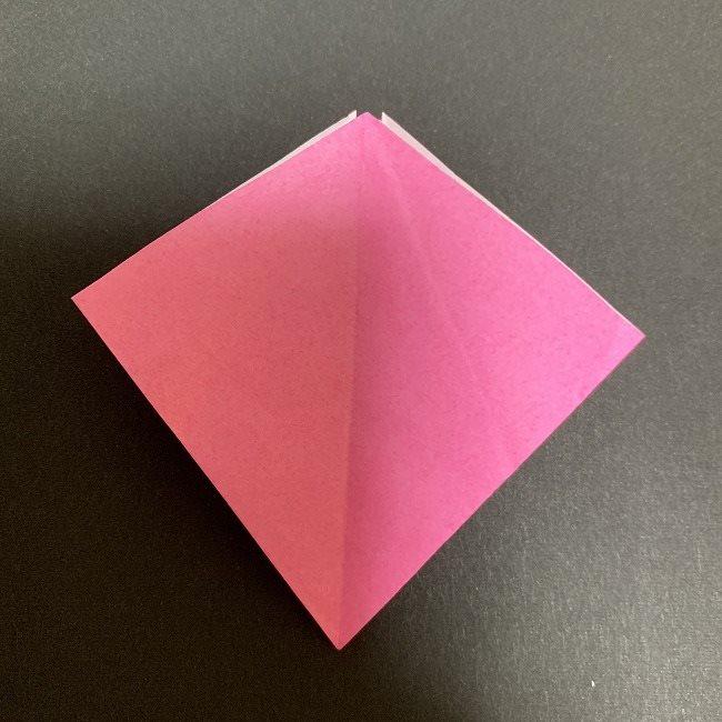 折り紙 五角形の桜*作り方折り方 (25)