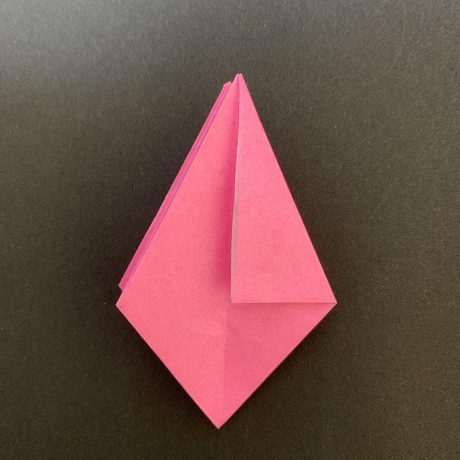 折り紙 五角形の桜*作り方折り方 (28)