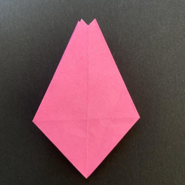 折り紙 五角形の桜*作り方折り方 (30)