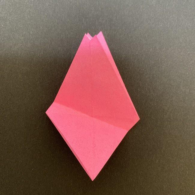 折り紙 五角形の桜*作り方折り方 (32)
