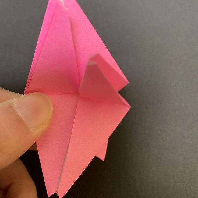 折り紙 五角形の桜*作り方折り方 (33)