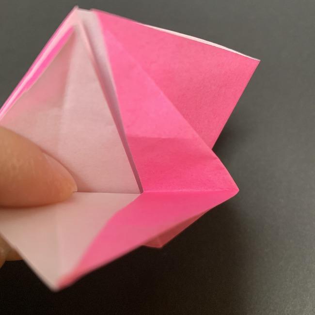 折り紙 五角形の桜*作り方折り方1 (3)