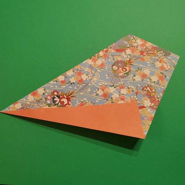 折り紙 桜の立体的なリースの作り方 (10)