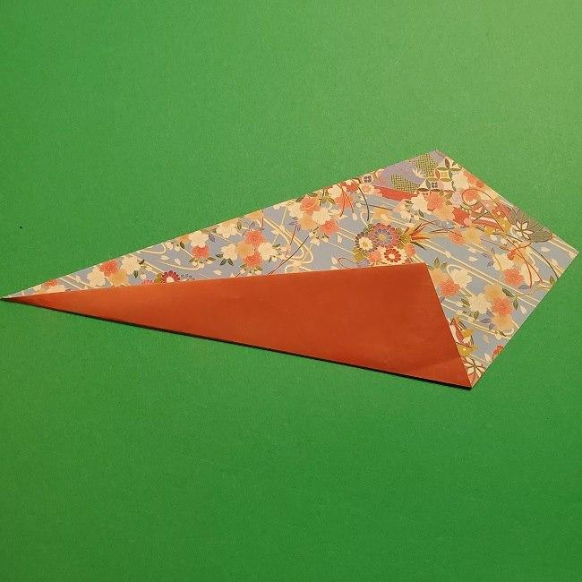 折り紙 桜の立体的なリースの作り方 (11)