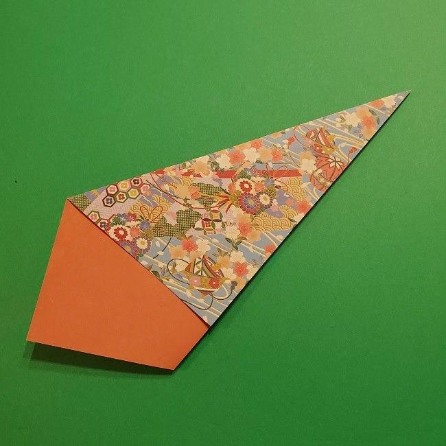 折り紙 桜の立体的なリースの作り方 (12)