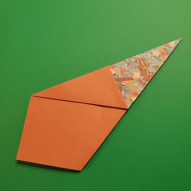 折り紙 桜の立体的なリースの作り方 (13)