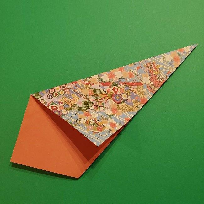 折り紙 桜の立体的なリースの作り方 (14)