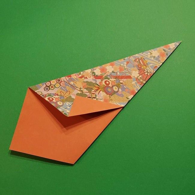 折り紙 桜の立体的なリースの作り方 (15)