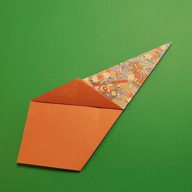 折り紙 桜の立体的なリースの作り方 (16)