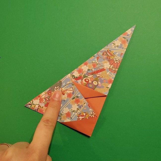 折り紙 桜の立体的なリースの作り方 (17)