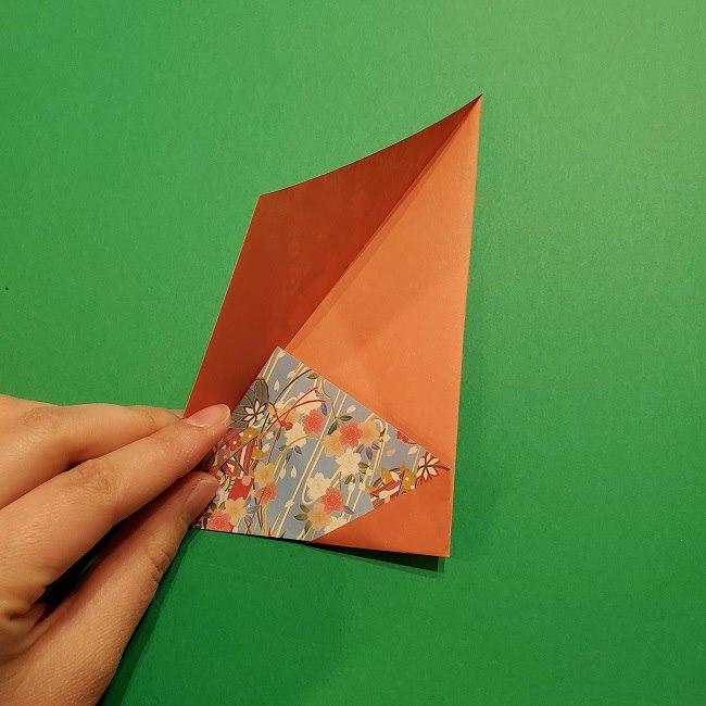 折り紙 桜の立体的なリースの作り方 (18)