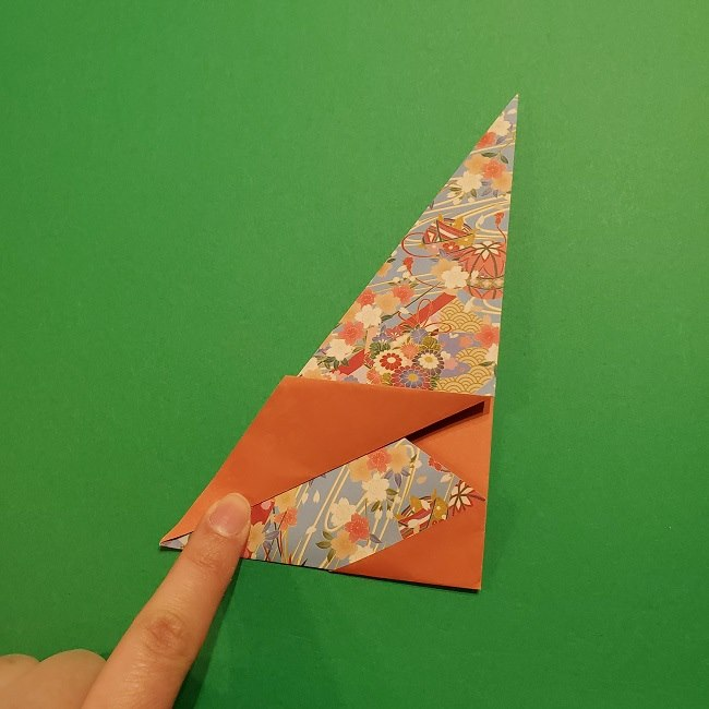 折り紙 桜の立体的なリースの作り方 (19)