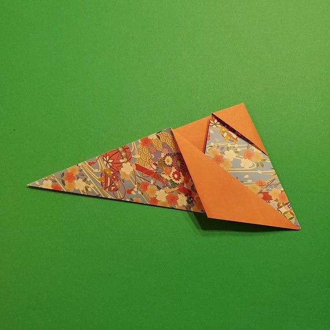 折り紙 桜の立体的なリースの作り方 (20)