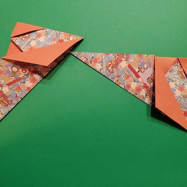 折り紙 桜の立体的なリースの作り方 (23)