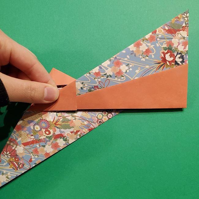 折り紙 桜の立体的なリースの作り方 (25)