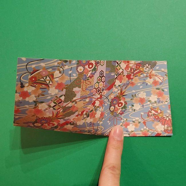 折り紙 桜の立体的なリースの作り方 (4)