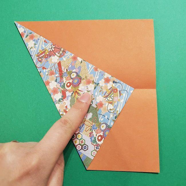 折り紙 桜の立体的なリースの作り方 (6)