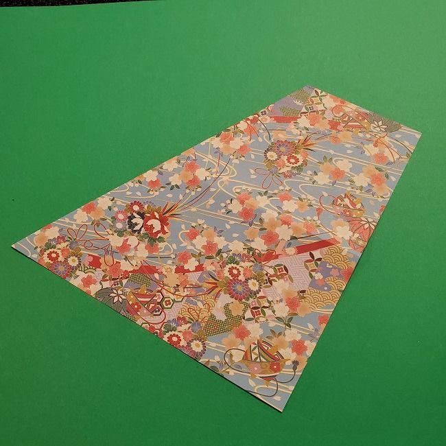 折り紙 桜の立体的なリースの作り方 (7)