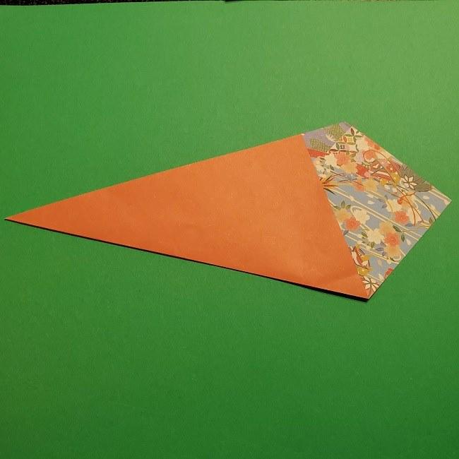 折り紙 桜の立体的なリースの作り方 (8)