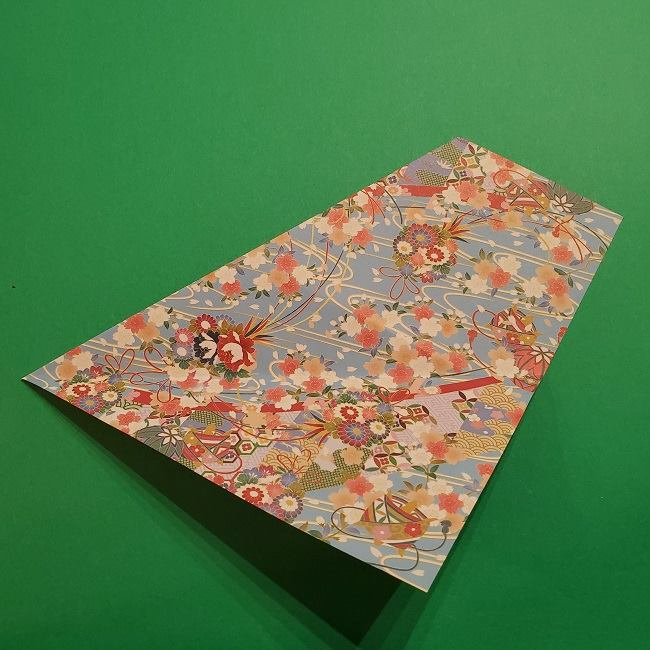 折り紙 桜の立体的なリースの作り方 (9)