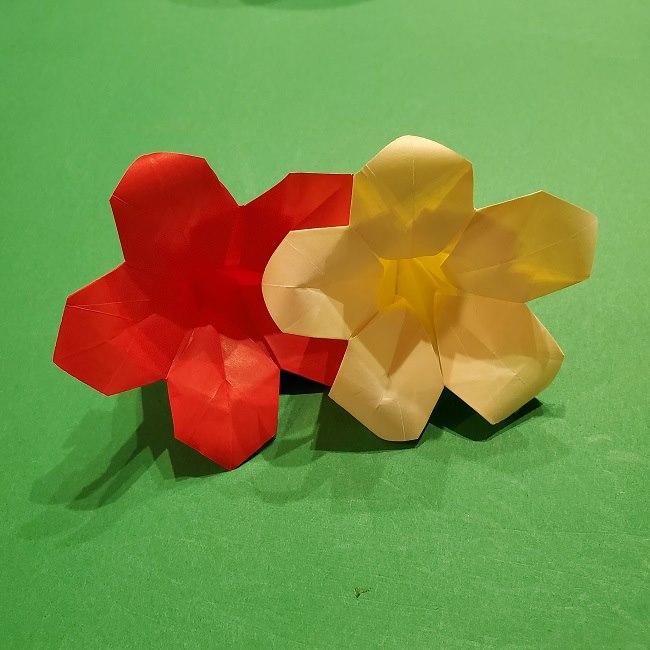 折り紙 ツツジの花の折り方作り方 (59)