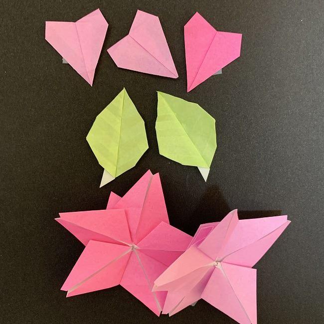 桜のつるし飾りの折り紙*用意するもの