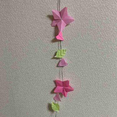 桜のつるし飾りを折り紙でつくったよ!作り方折り方を紹介♪