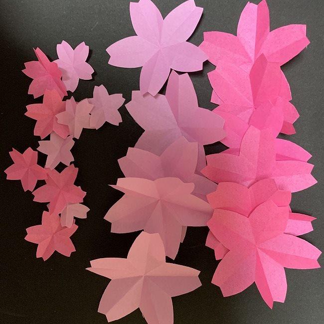 桜の折り紙ガーランド*用意するもの