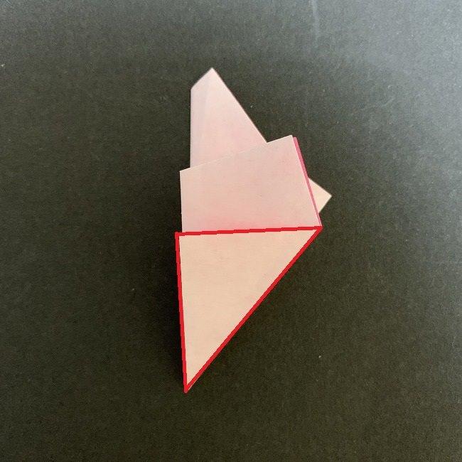 桜の折り紙(切り抜きver.)*作り方折り方補足
