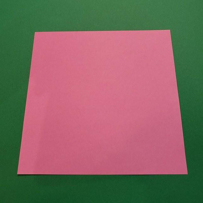 桜の折り紙(立体・一枚)*用意するもの (1)