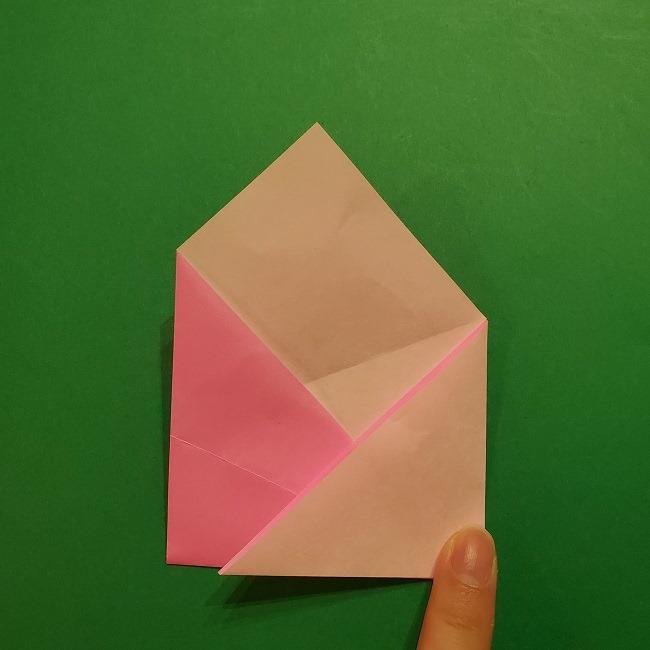桜の折り紙 器(小物入れ)の折り方作り方 (10)