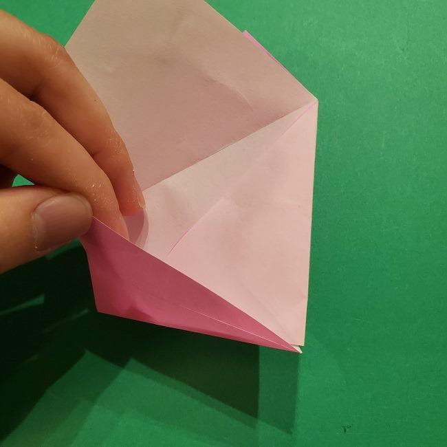 桜の折り紙 器(小物入れ)の折り方作り方 (11)