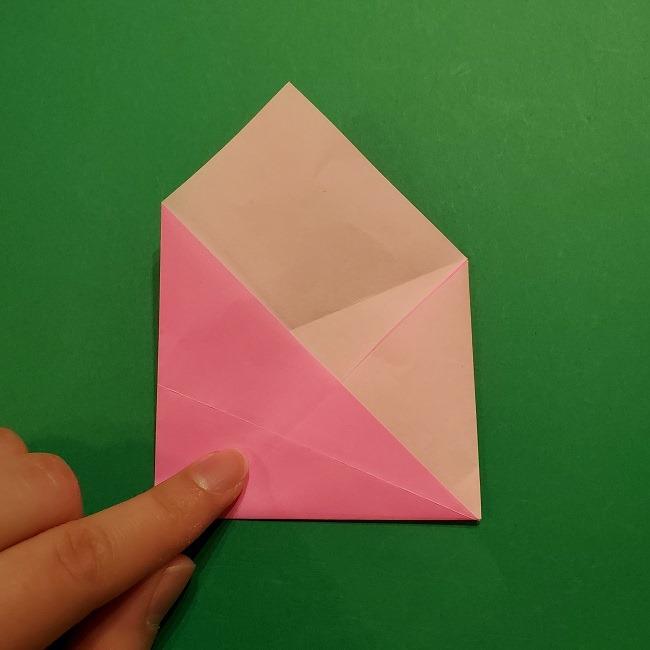 桜の折り紙 器(小物入れ)の折り方作り方 (12)