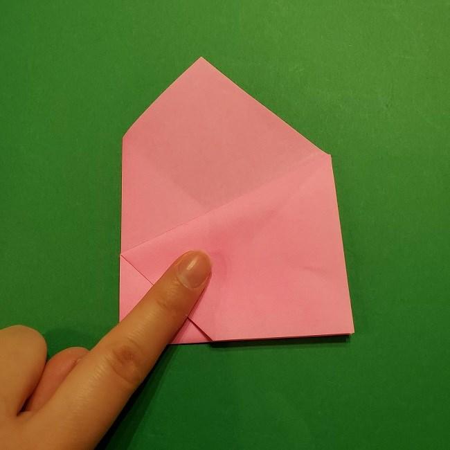 桜の折り紙 器(小物入れ)の折り方作り方 (13)