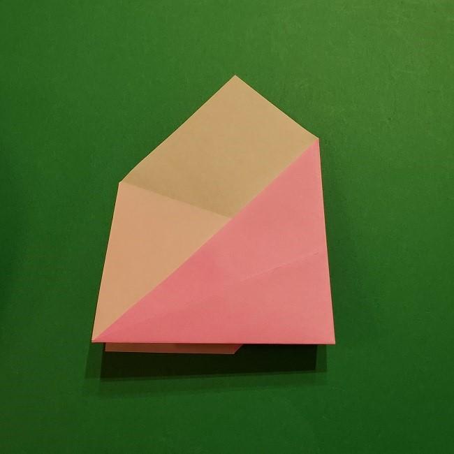 桜の折り紙 器(小物入れ)の折り方作り方 (14)
