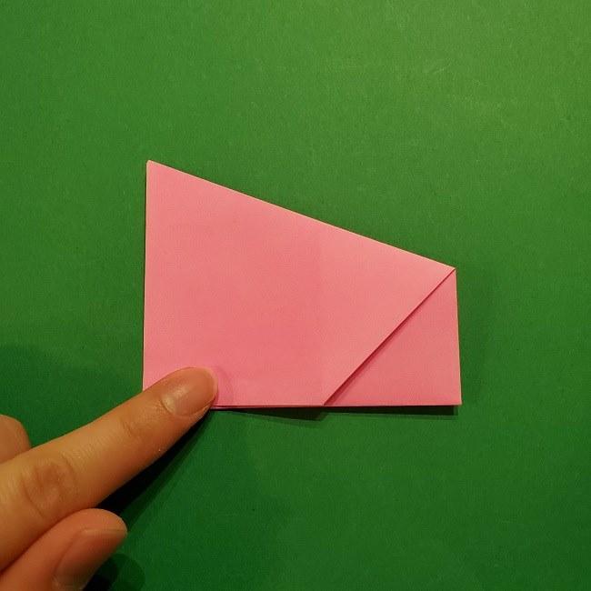 桜の折り紙 器(小物入れ)の折り方作り方 (15)