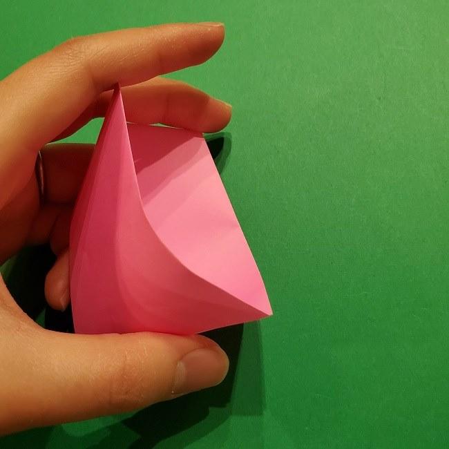 桜の折り紙 器(小物入れ)の折り方作り方 (17)