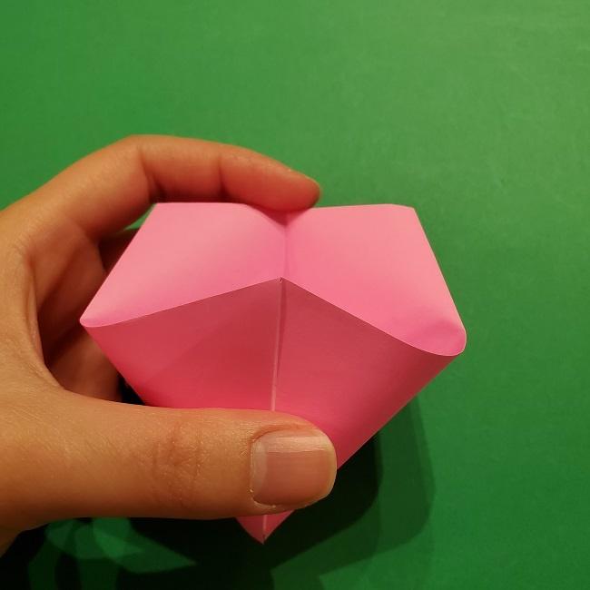 桜の折り紙 器(小物入れ)の折り方作り方 (18)