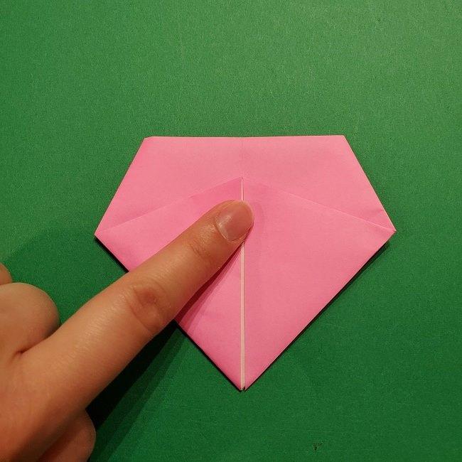 桜の折り紙 器(小物入れ)の折り方作り方 (19)