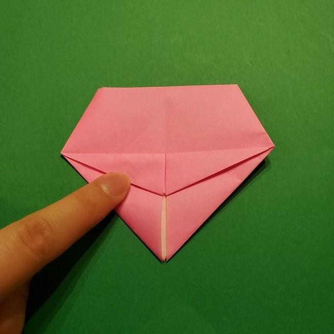 桜の折り紙 器(小物入れ)の折り方作り方 (20)