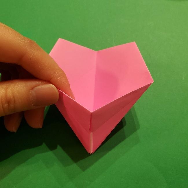 桜の折り紙 器(小物入れ)の折り方作り方 (21)