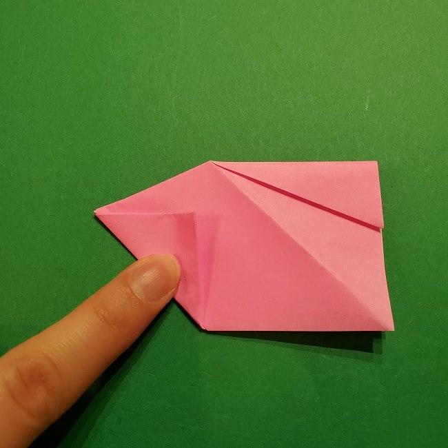 桜の折り紙 器(小物入れ)の折り方作り方 (23)
