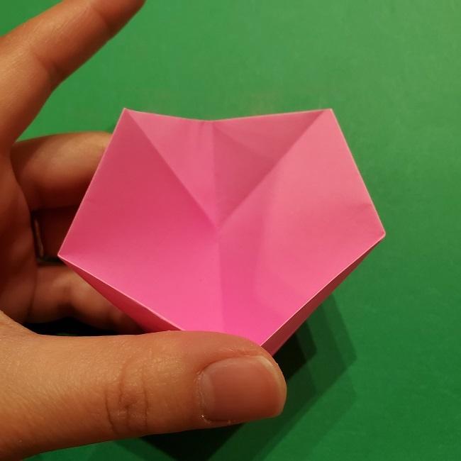 桜の折り紙 器(小物入れ)の折り方作り方 (25)