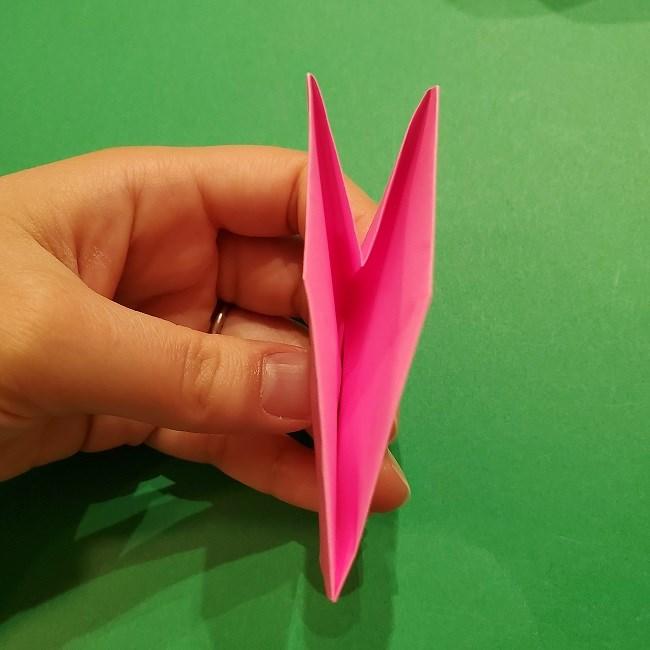 桜の折り紙 器(小物入れ)の折り方作り方 (27)